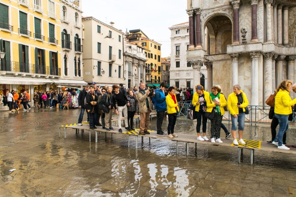 3 Days in Venice in November: Acqua Alta Ramps
