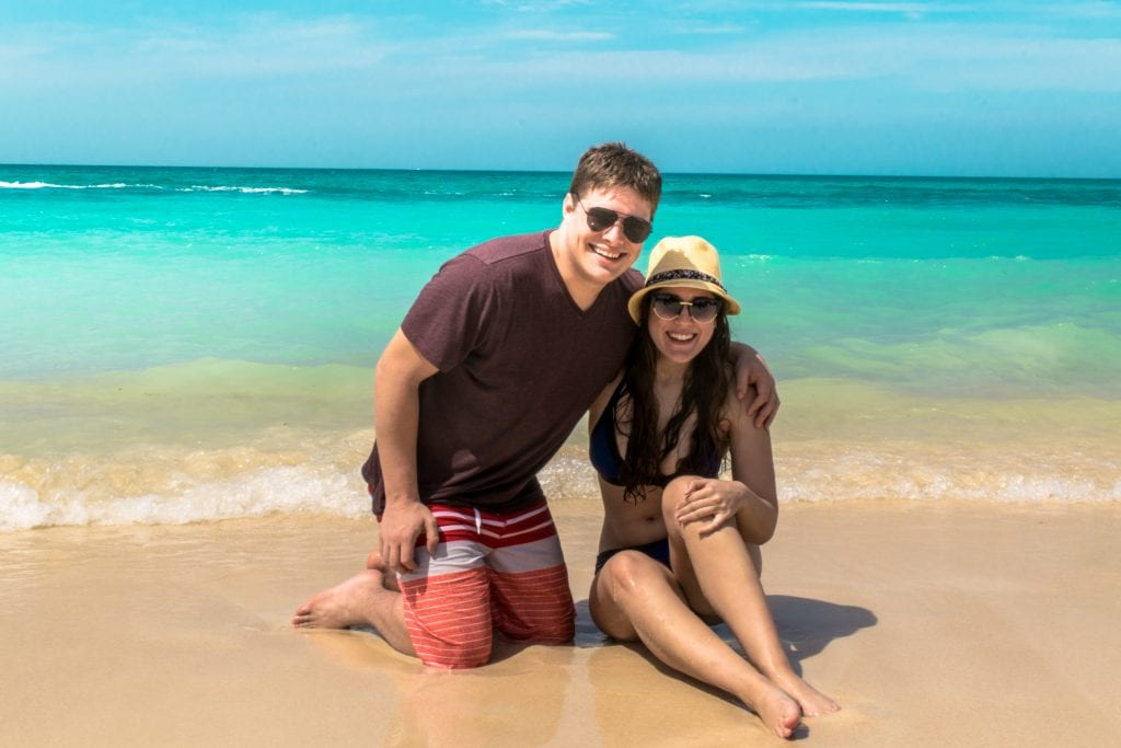 Couple at Playa Blanca, Colombia