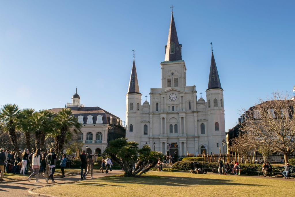 St. Louis Cathedral in Jackson Square as seen during a 3 day trip to NOLA