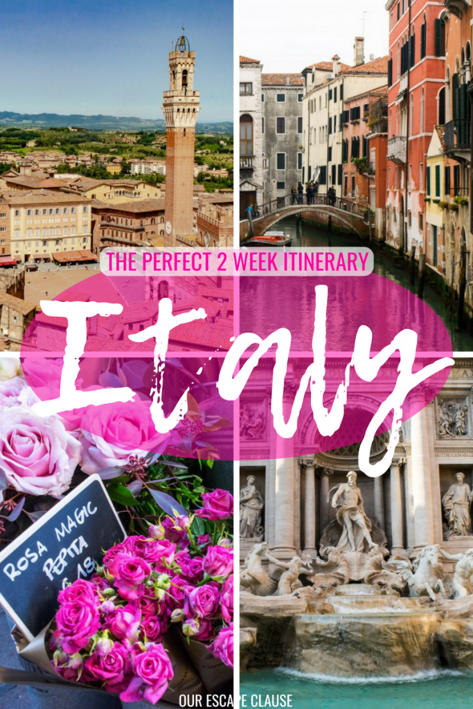 2 Weeks in Italy Itinerary: #rome #florence #tuscany #cinqueterre #venice #italy #travel