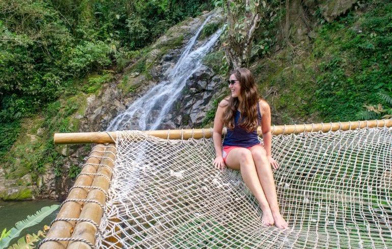Marinka Falls: Girl in Hammock Minca, Colombia