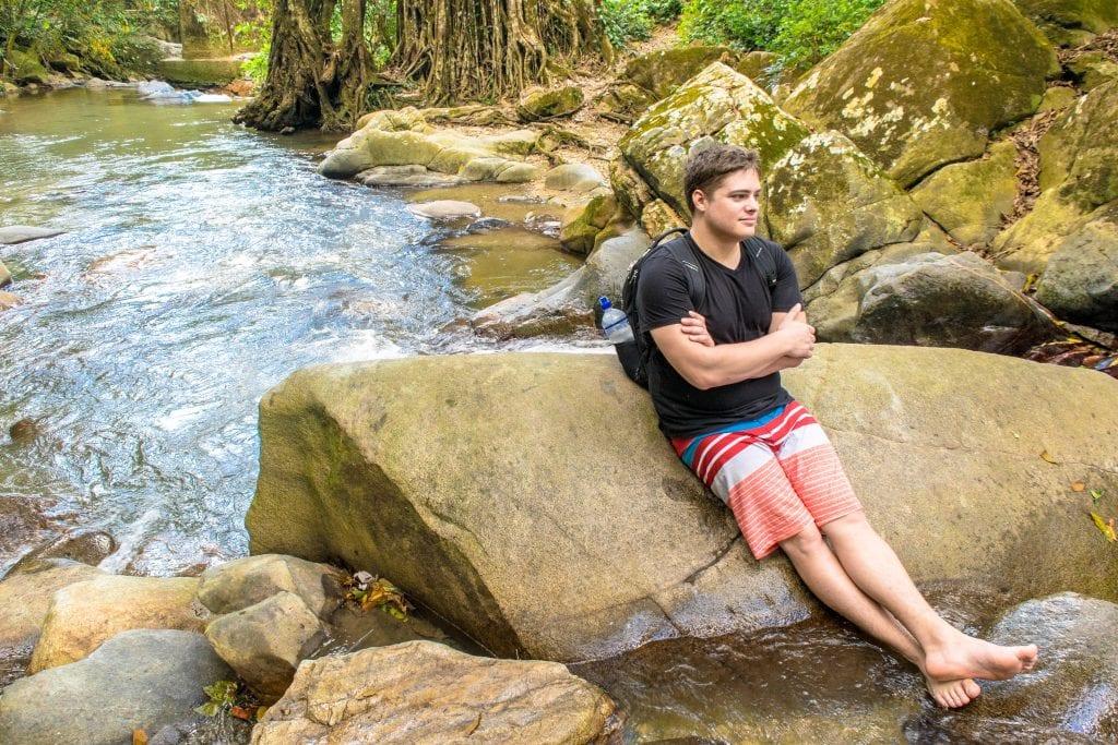 Jeremy at Pozo Azul Minca, Colombia