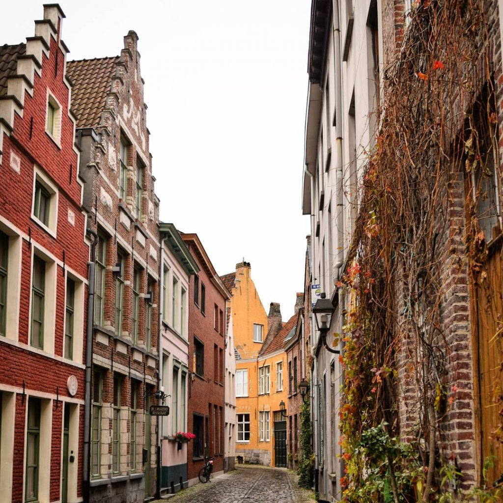 empty cobblestone street, as seen when visiting ghent attractions