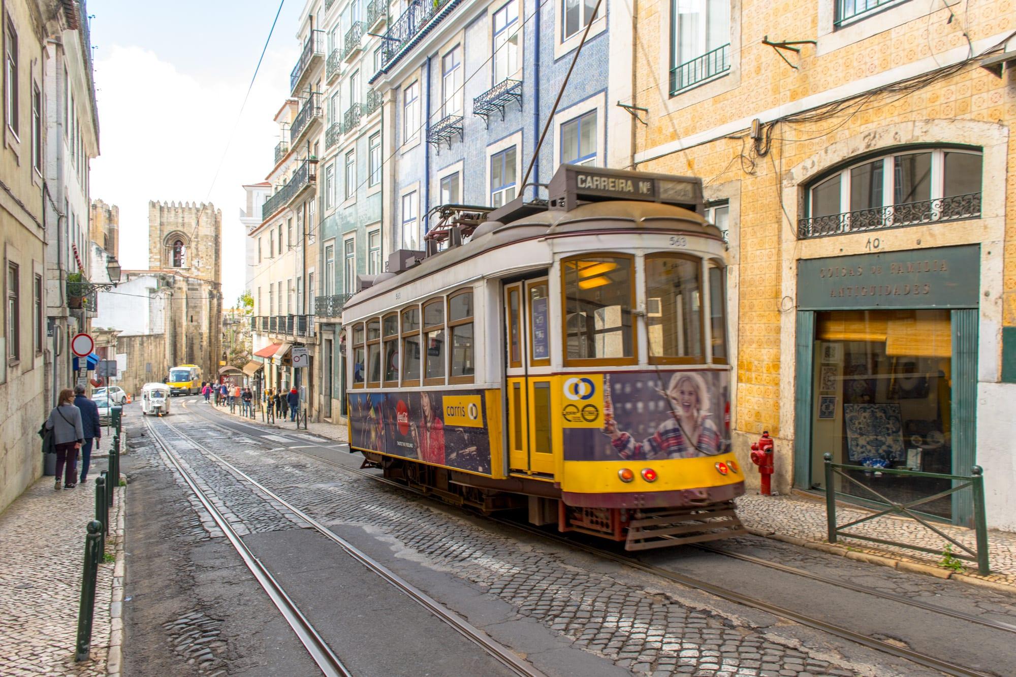 4 Days in Lisbon: Street Car Alfama District