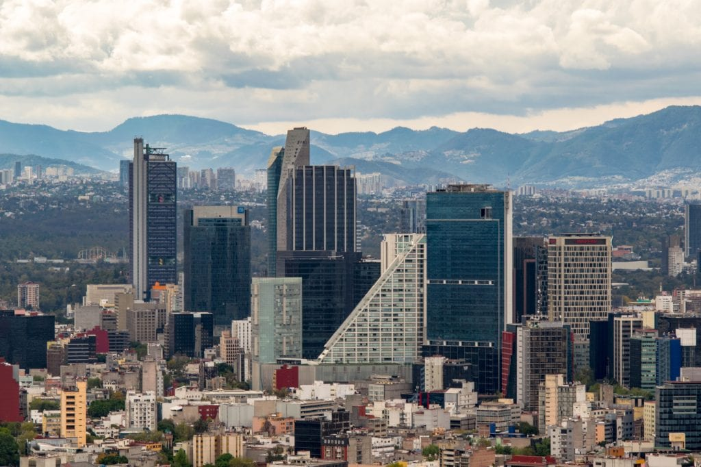 modern skyline of mexico city, a popular view during a mexico city weekend itinerary