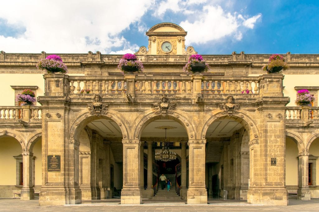 beautiful stone corner of chapultepec castle in mexico city in 3 days