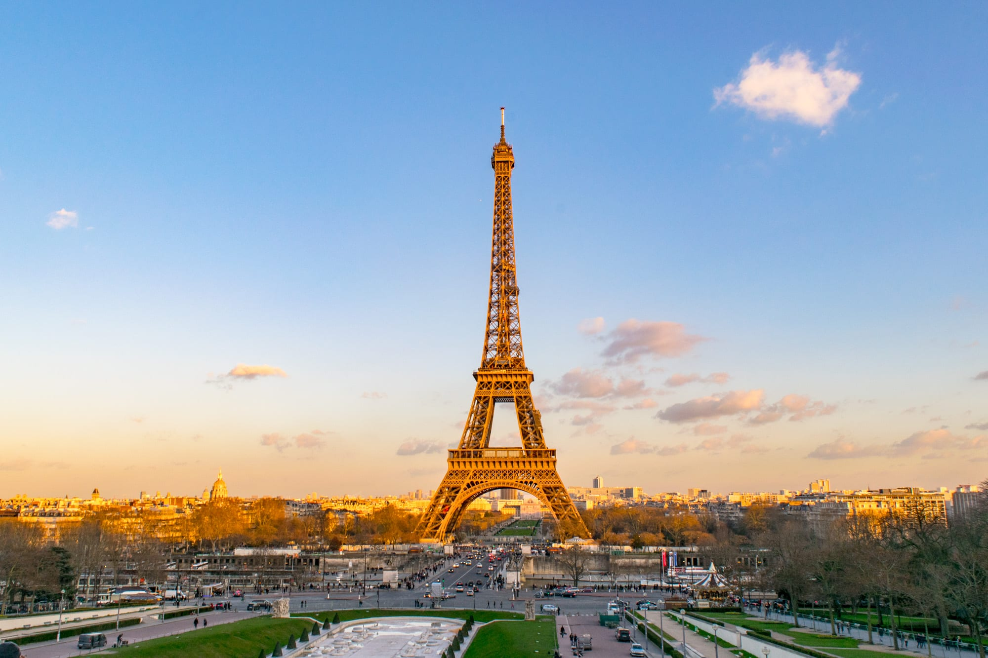 3 Days in Paris Itinerary: Eiffel Tower from Trocadero Gardens
