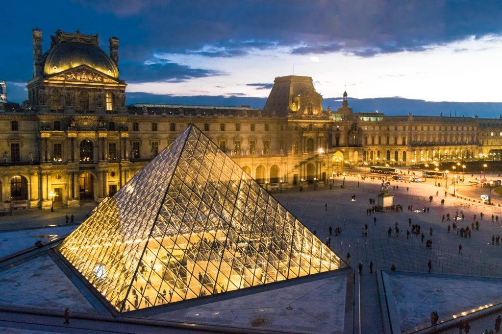 Paris Honeymoon Guide: The Louvre Pyramid at Night
