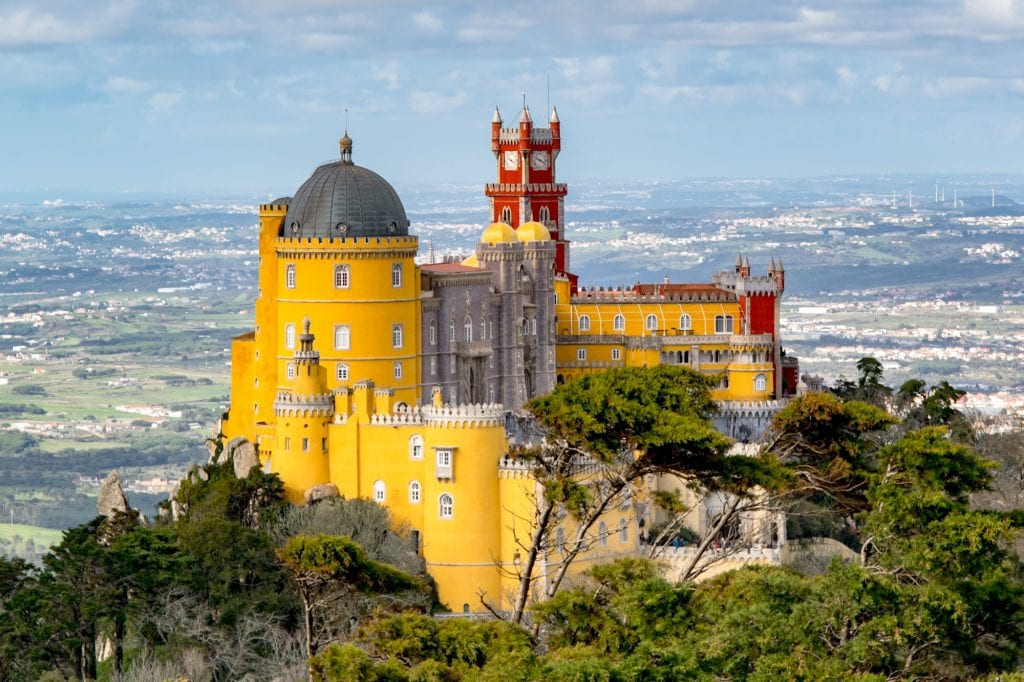 Pena Palace in Sintra, an excellent day trip from Lisbon Portugal