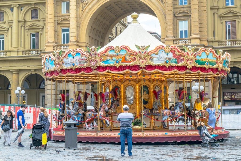 One Day in Florence: Piazza della Repubblica Carousel