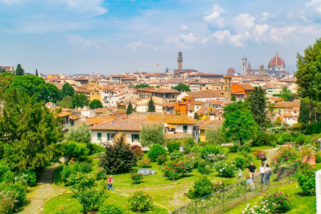 Best Things to Do in Florence: View from the Rose Garden