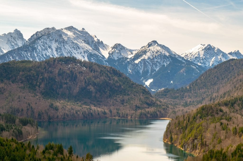 Munich to Neuschwanstein Castle: Lake in Bavarian Mountains