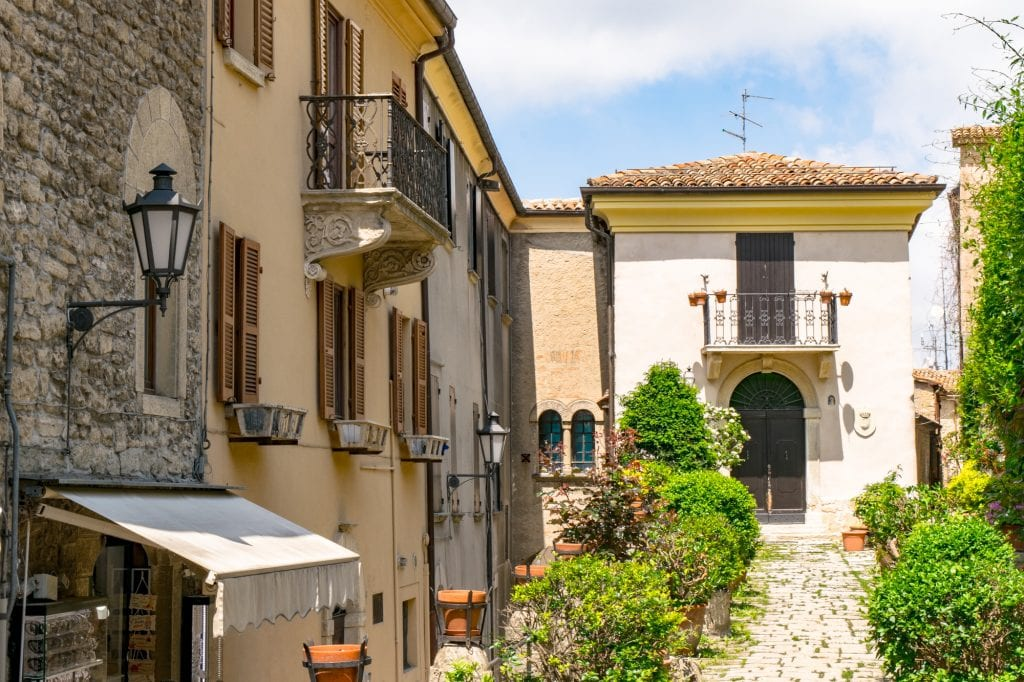 Interesting Facts About San Marino: Views of Buildings on Street