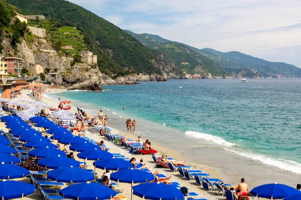 2 Weeks in Italy Itinerary: Beach at Monterosso al Mare, Cinque Terre