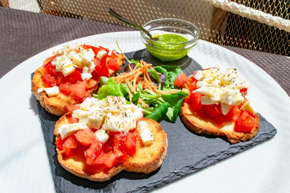 Things to Do in Bologna: Plate of Bruschetta