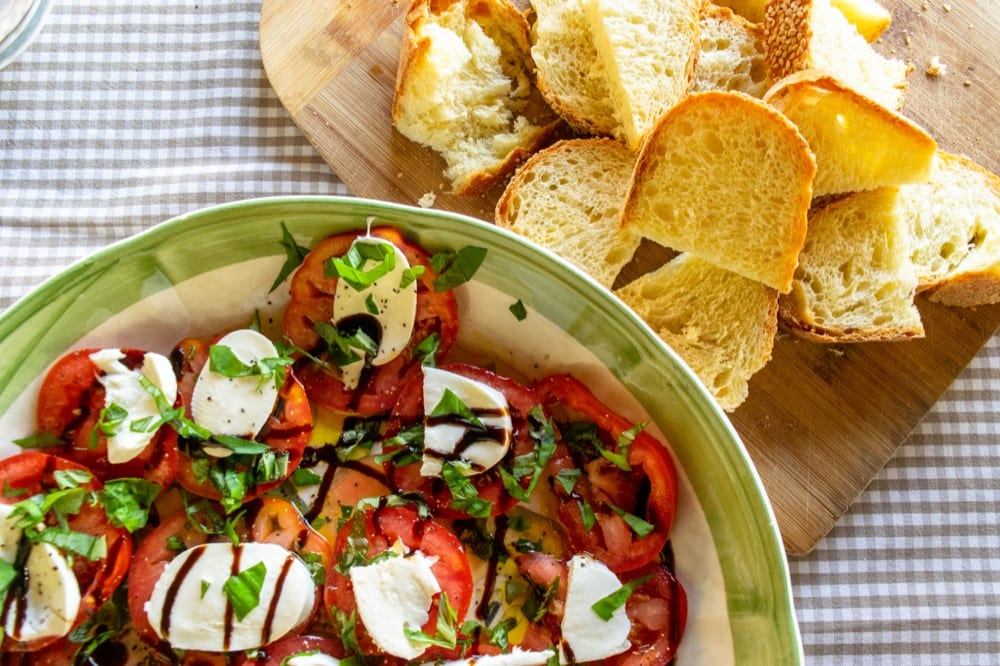 Italy Packing List: caprese salad