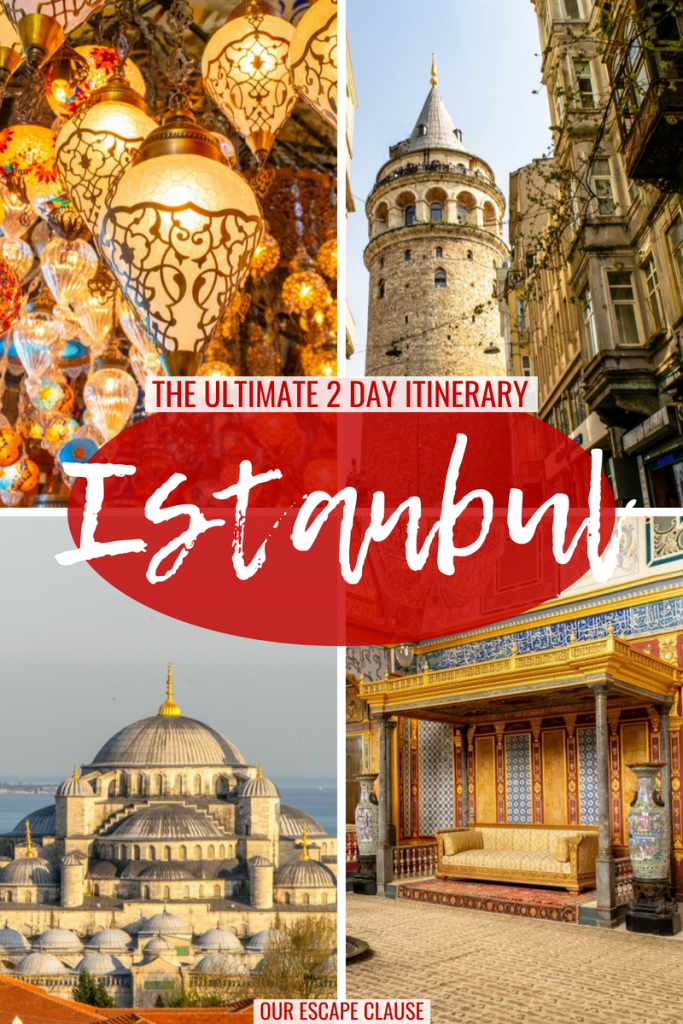 The ultimate 2 day itinerary for Istanbul: where to go, what to do & more. #istanbul #turkey #travel
