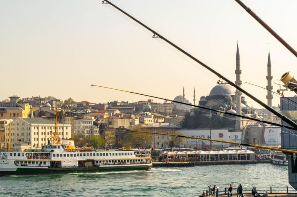 Fun Things to Do in Istanbul: Fishing Poles