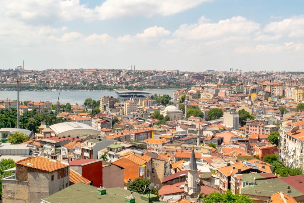 view of istanbul golden horn from gallata tower, where we learned some of these airbnb tips for guests