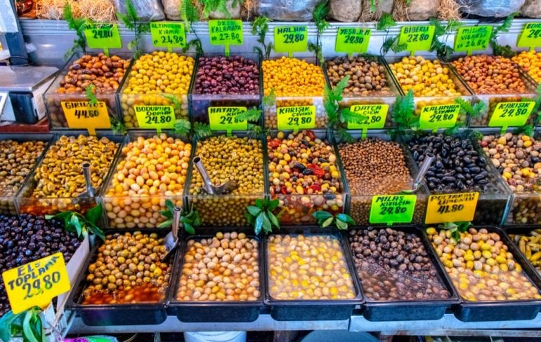 Olives in Istanbul