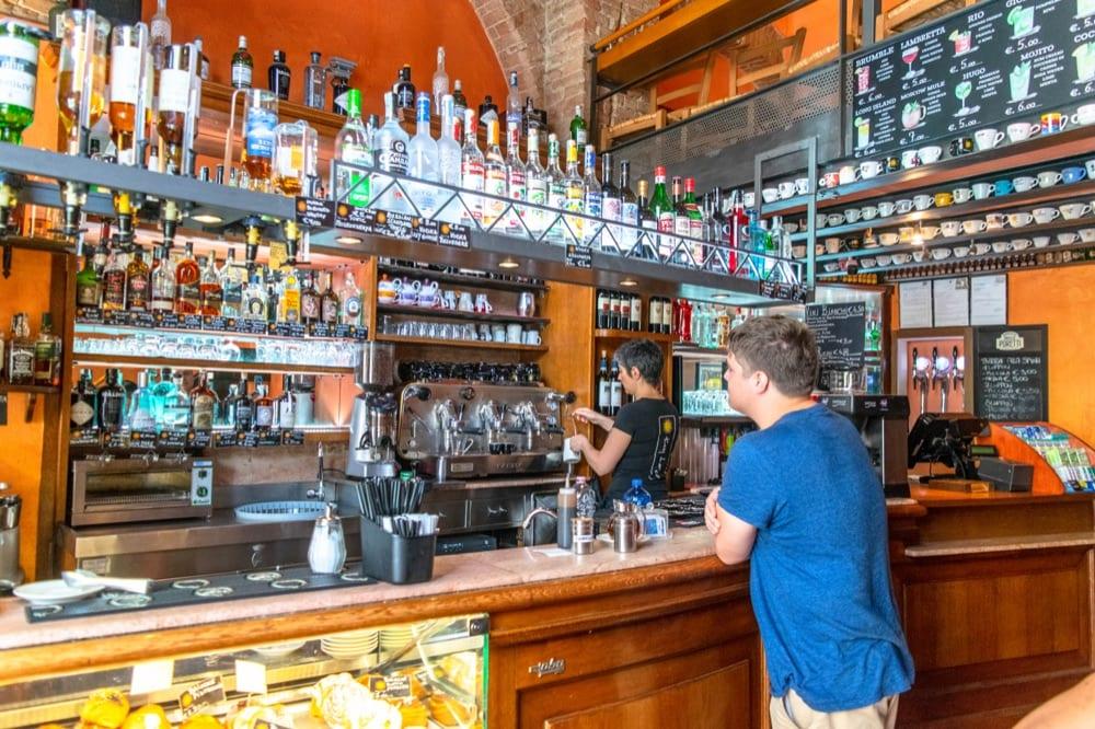 Siena Day Trip: Jeremy in Cafe