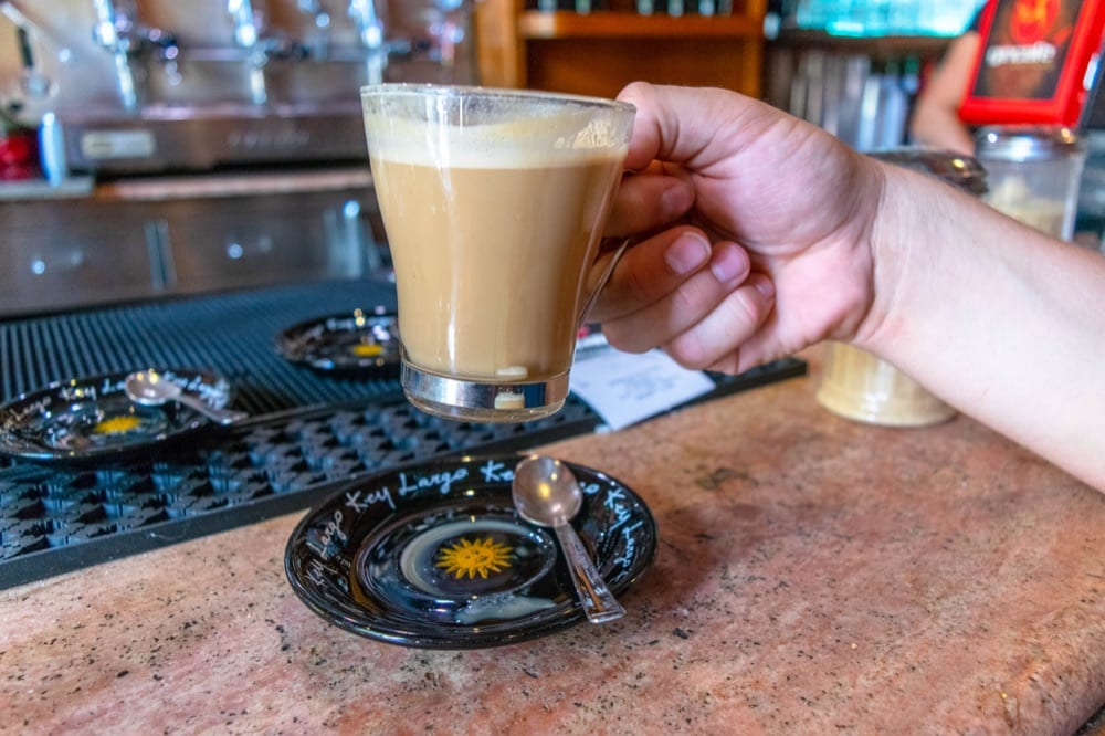 Caffe Latte in Siena Italy, as seen on a guide to ordering coffee in Italy