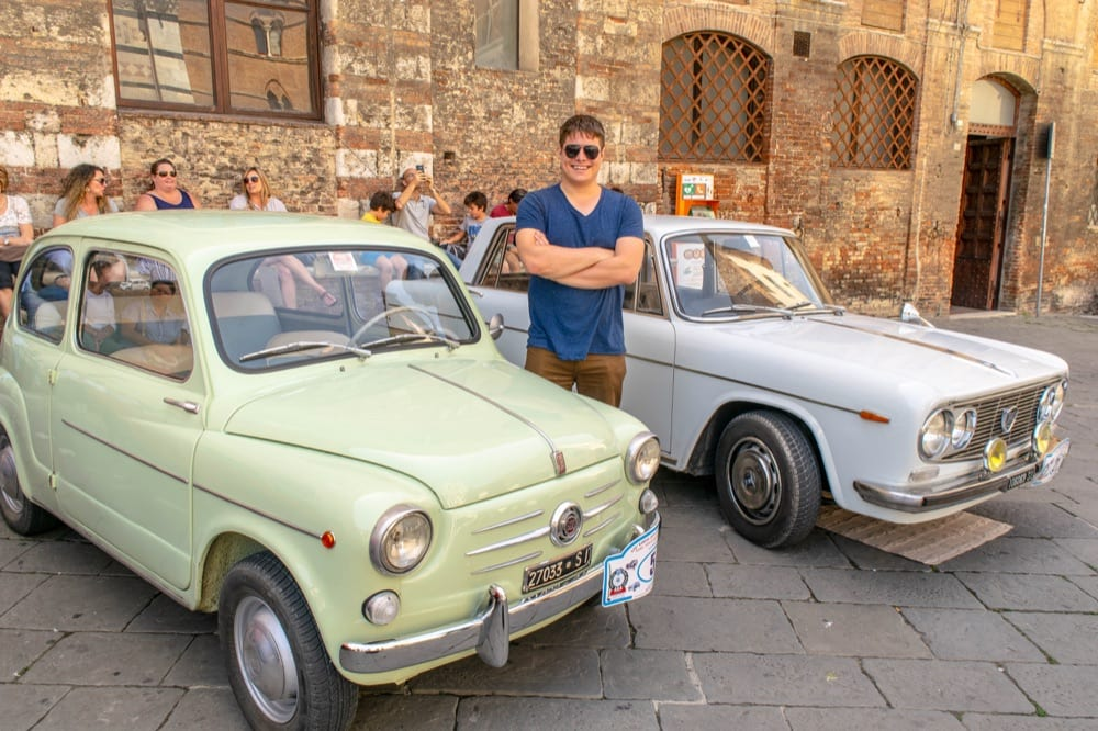 Siena Day Trip: Jeremy with Classic Cars