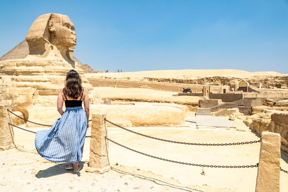 Layover in Cairo: Girl with Sphinx