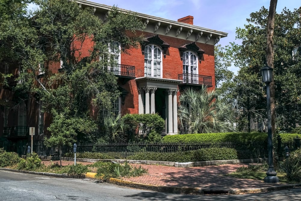 Front of the Mercer WIlliams House in Savannah GA, one of the best things to do in Savannah GA