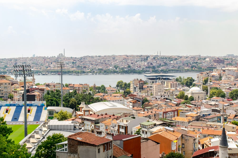 view of istanbul skyline from galata tower