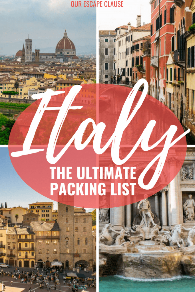 The Ultimate Italy Packing List: everything you need to bring. #italy #packing #packinglist #travel #italypackinglist #pack