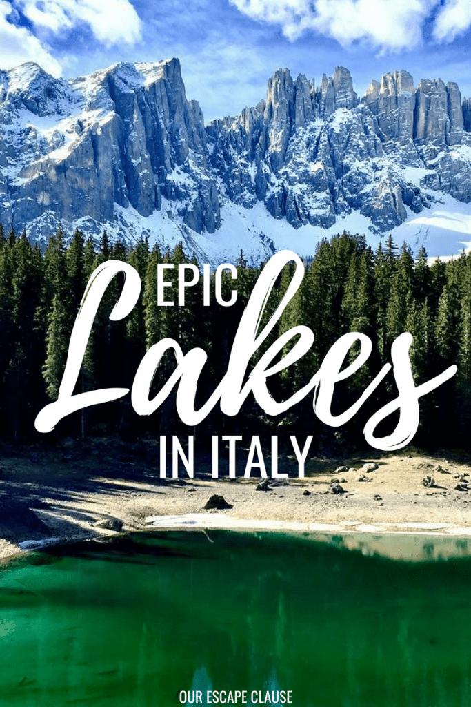 The Most Beautiful Lakes in Italy: #lakes #outdoors #getoutside #travel #italy