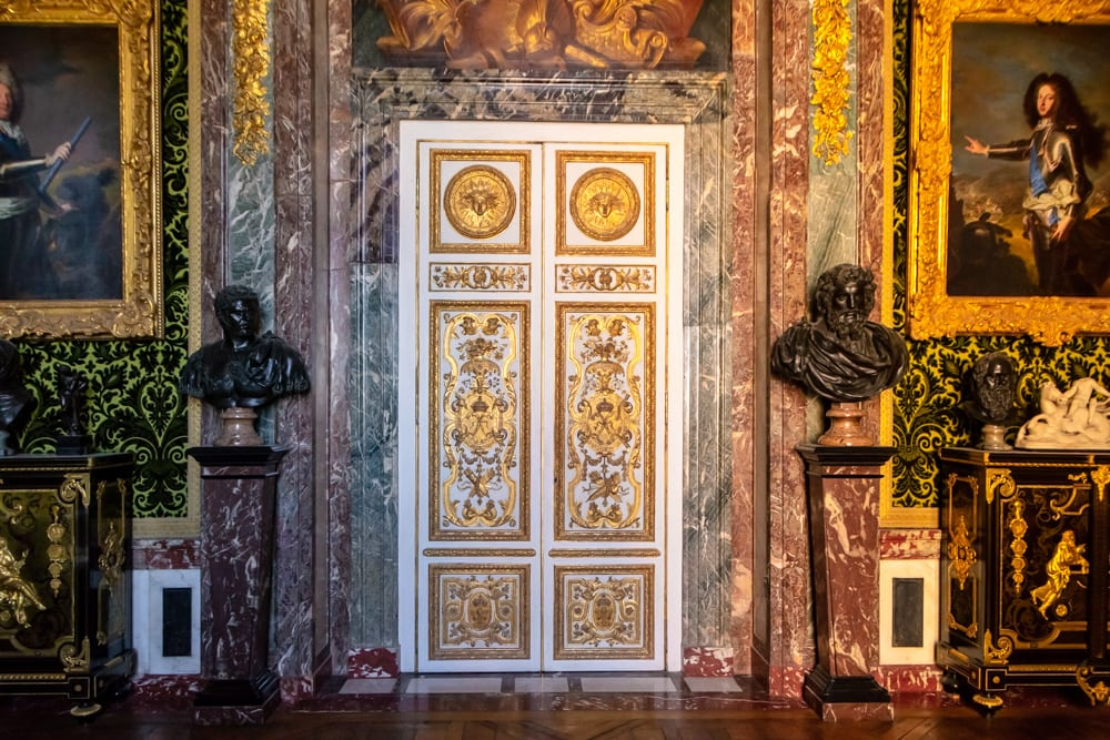 Visiting Versailles from Paris: Interior Doors of Palace
