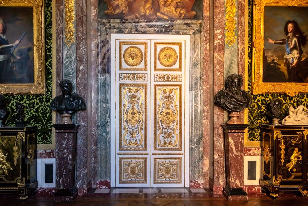 Visiting Versailles from Paris: Interior Doors of Palace