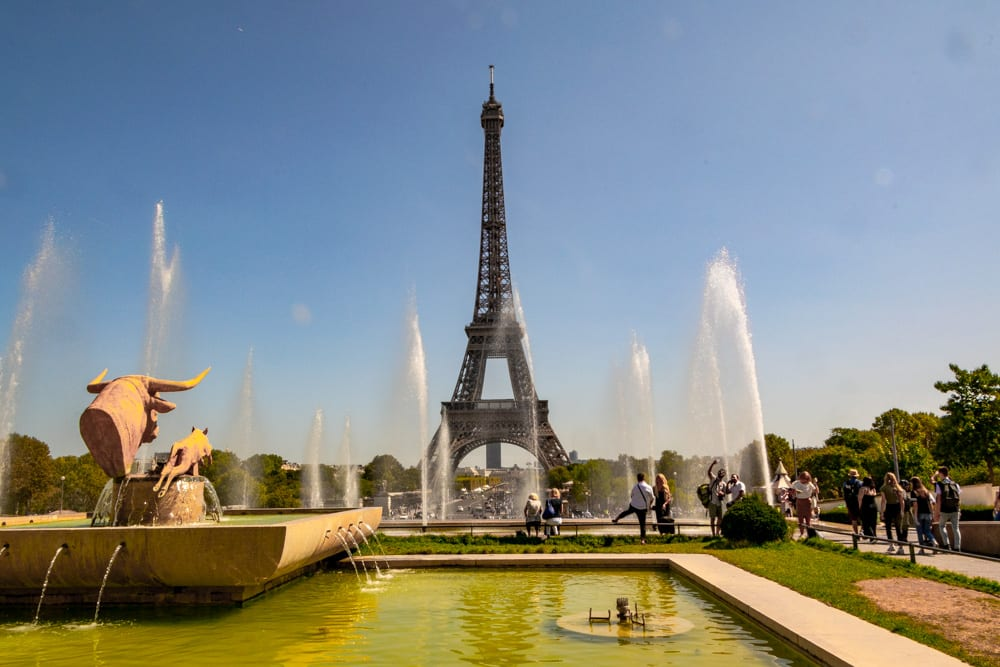 One Day in Paris: view of Eiffel Tower from Trocadero Gardens