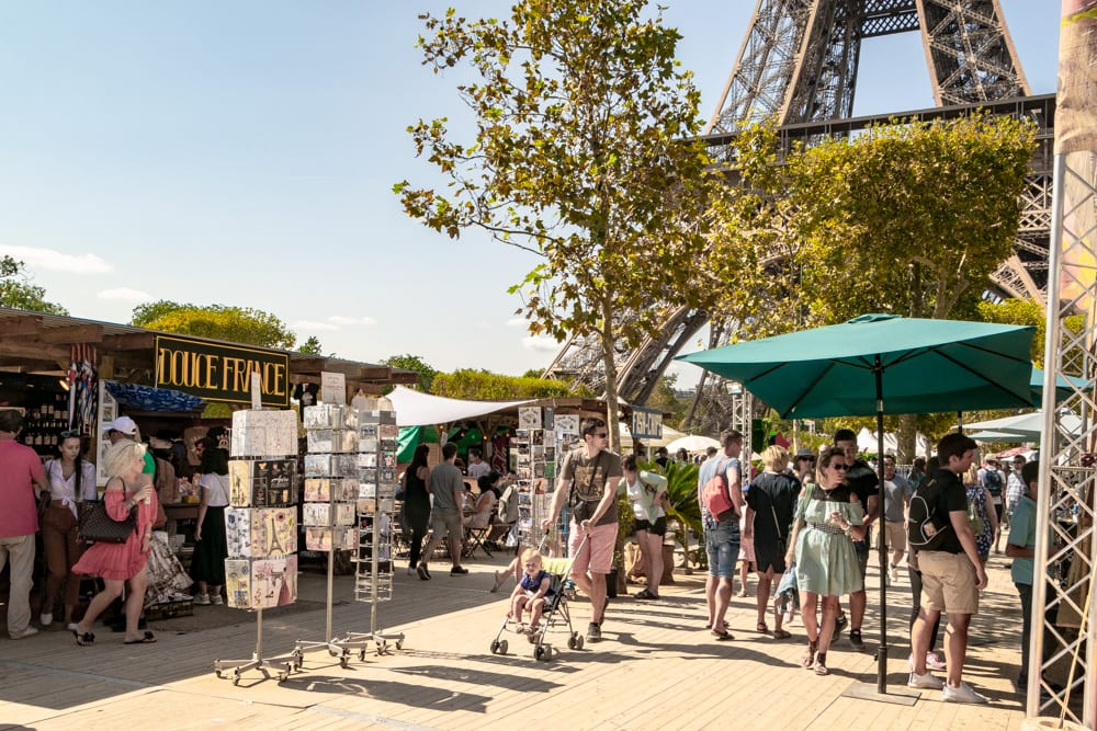 Paris Honeymoon: Market under the Eiffel Tower