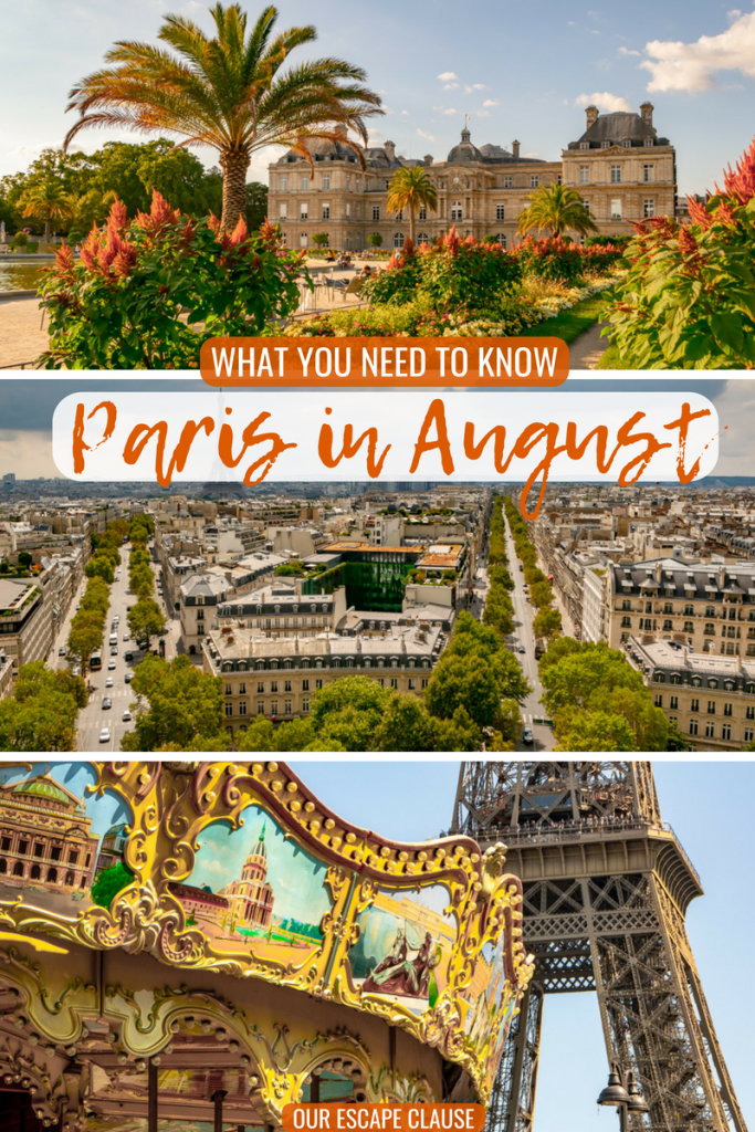 Tips for Paris in August: #paris #france #august #summer #summerinparis #travel