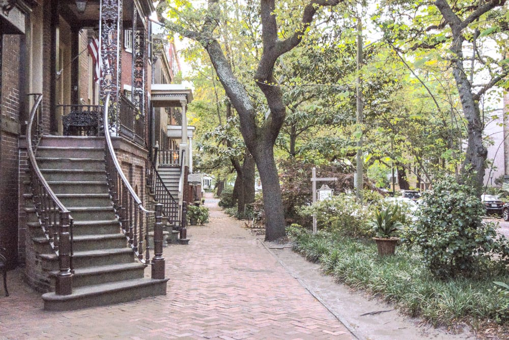 Romantic Getaways in USA: Jones Street in Savannah