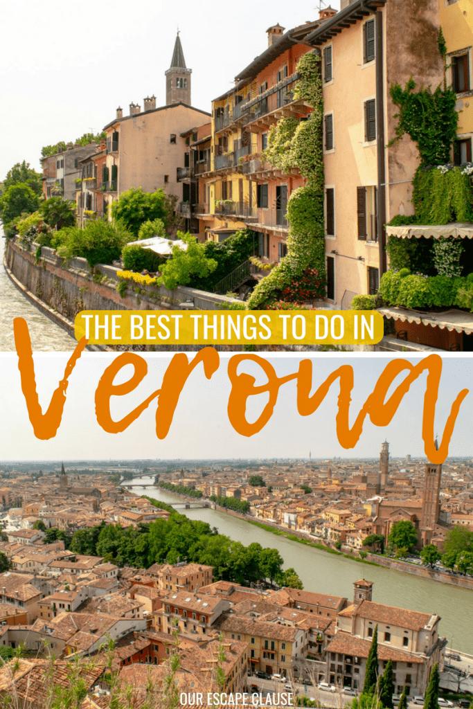 The Best Things to Do in Verona: #verona #italy #shakespeare #romeoandjuliet #travel #veneto