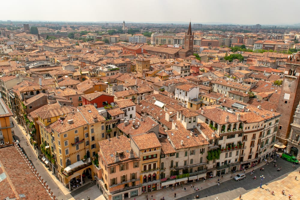 Trip to Italy Cost: View of Verona from Tower