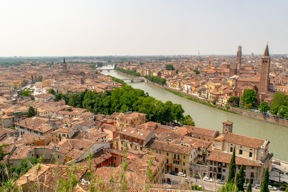 Where to Propose in Italy: Verona Proposal at Castel San Pietro