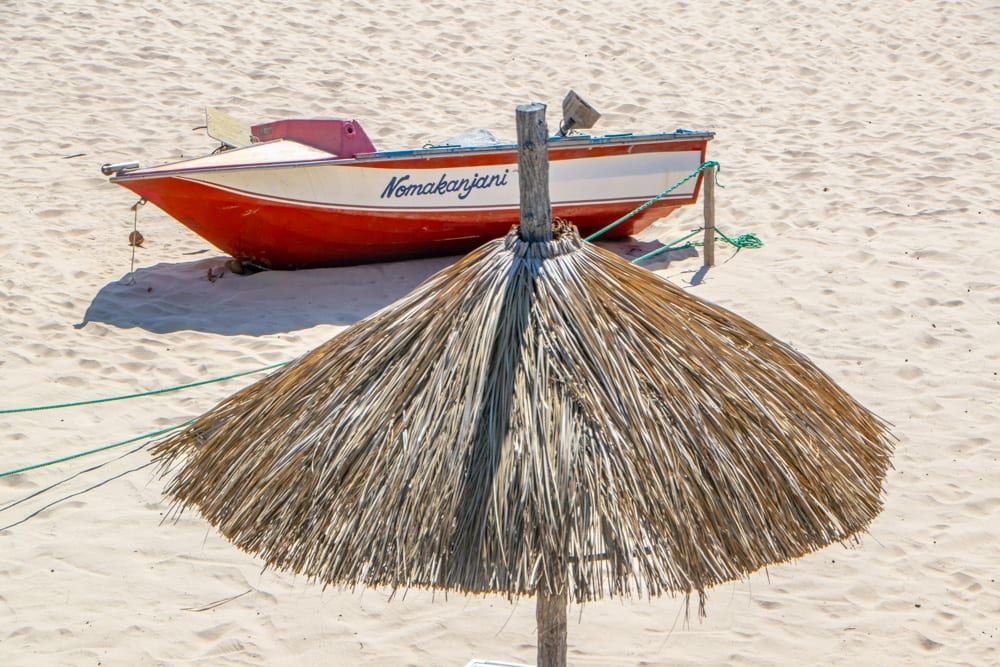 Tofo, Mozambique: Boat on Beach