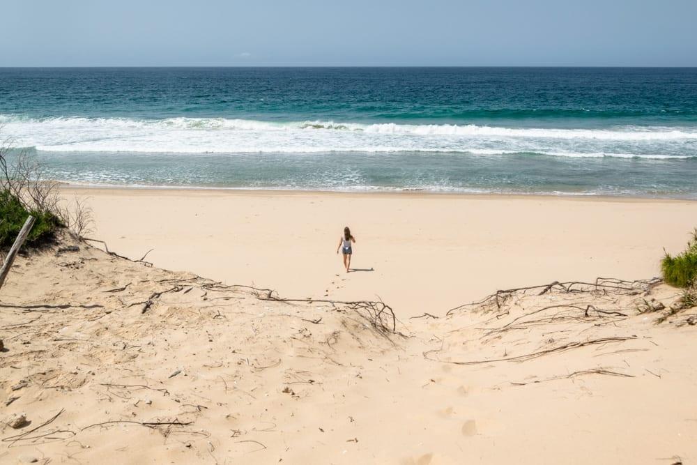 Tofo, Mozambique: Girl on Beach