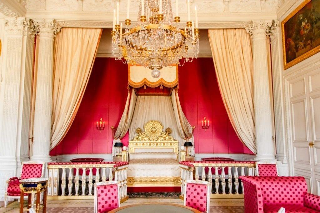Visiting Versailles from Paris: Bedroom Interior