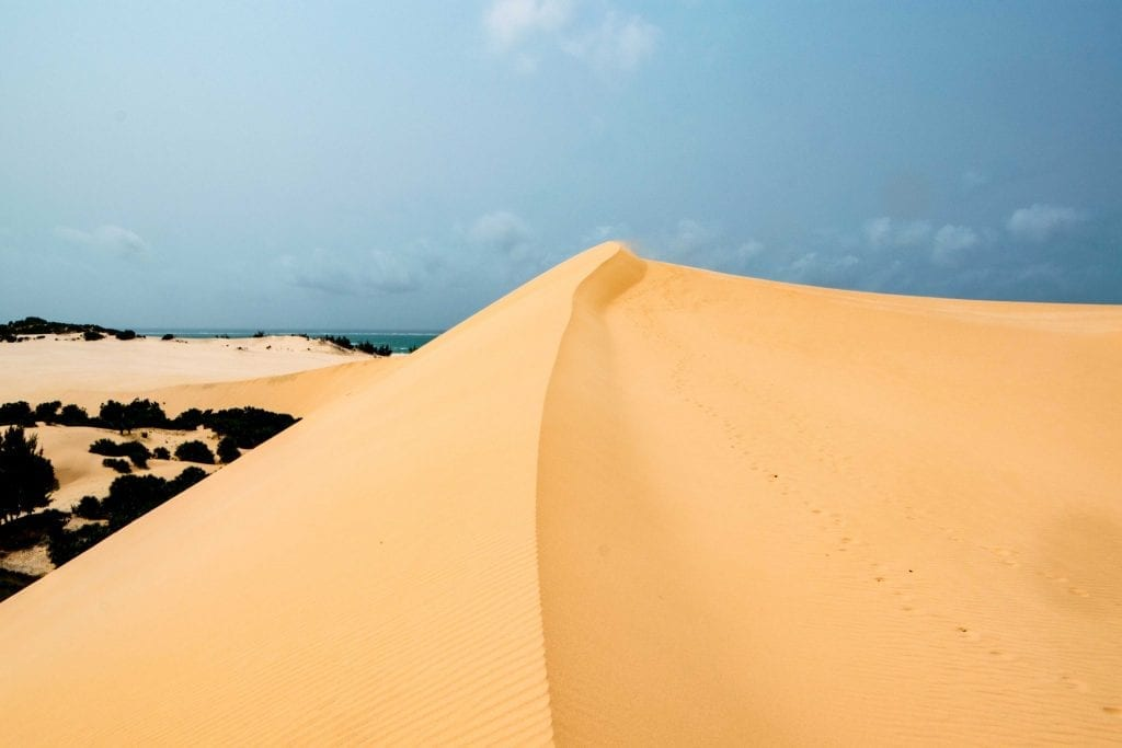 Giant Sand Dunes in Vilanculos Mozambique