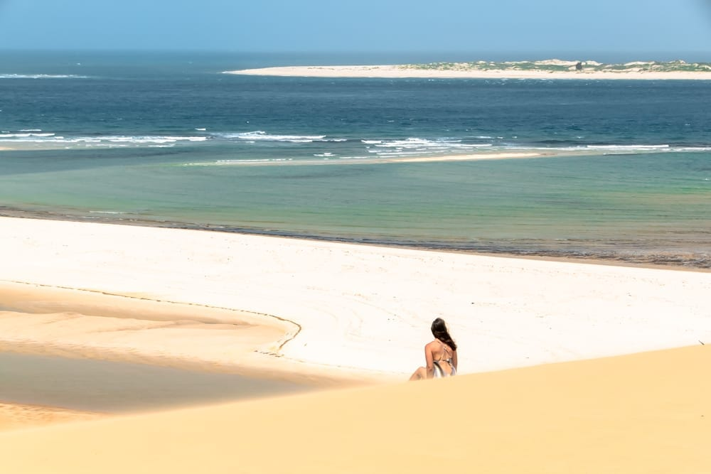 kate storm in the sand dunes of vilanculos mozambique during a life of travel lifestyle