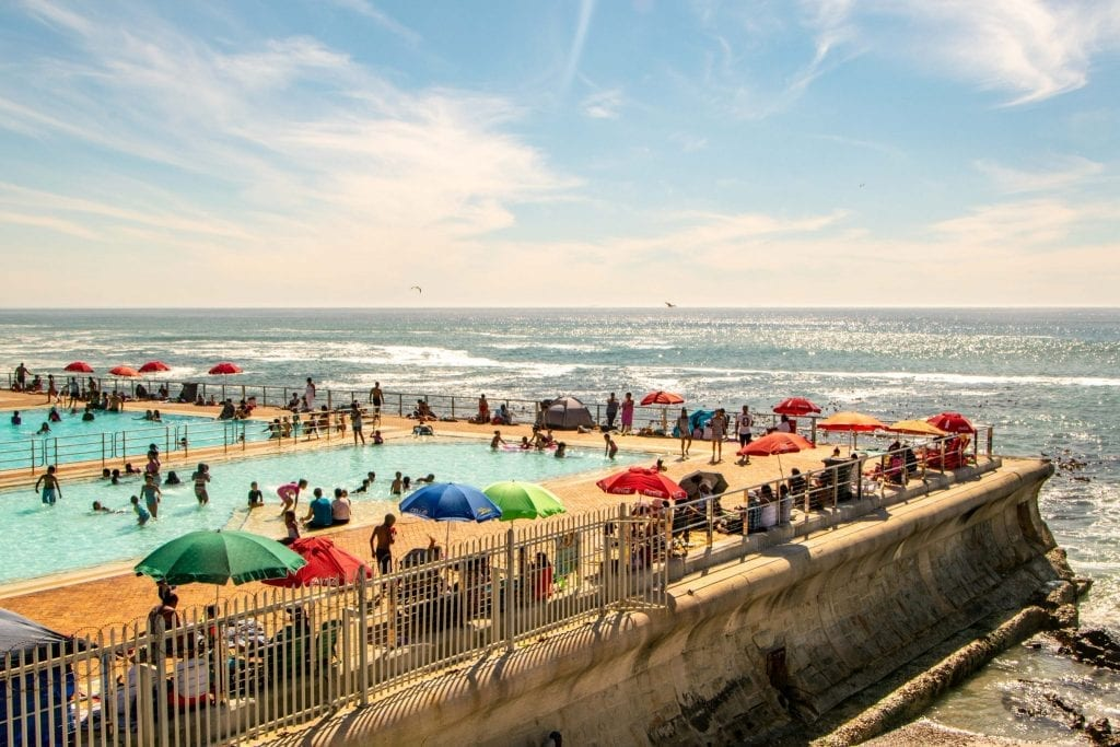 14 Days in South Africa Itinerary: Pool at Sea Point