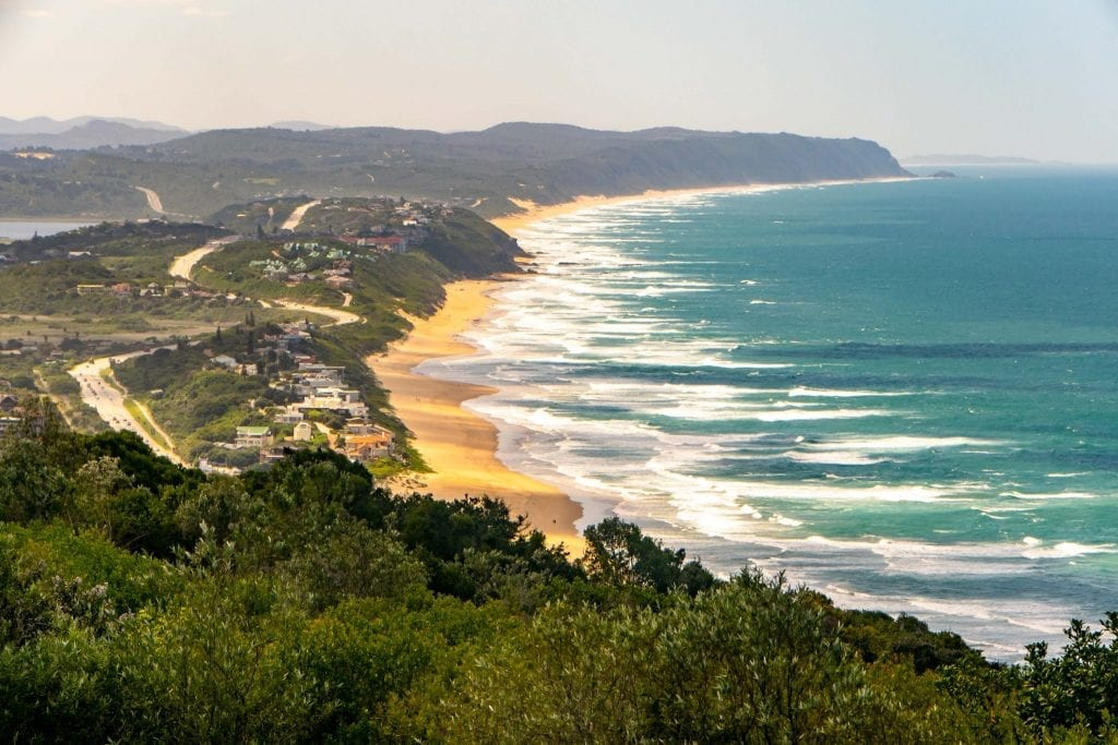 2 Weeks in South Africa Itinerary: Viwe of Wilderness Beach