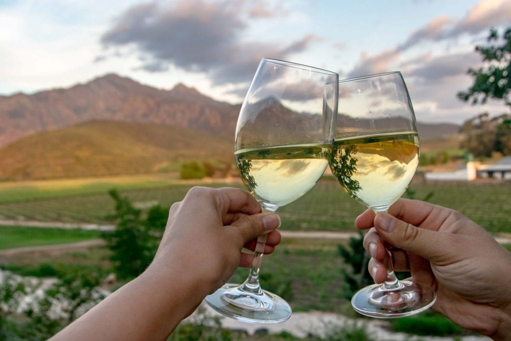 2 Week South Africa Itinerary: Wine glasses