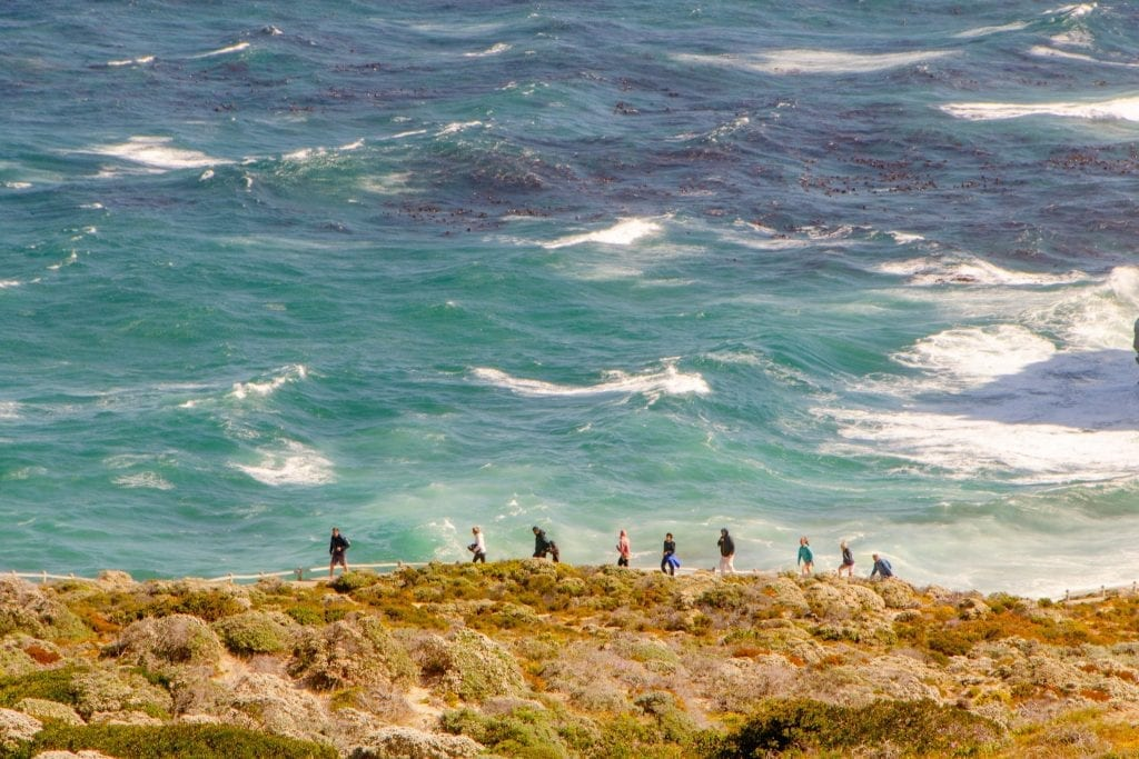 2 Weeks in South Africa Itinerary: Hikers on Cape Point